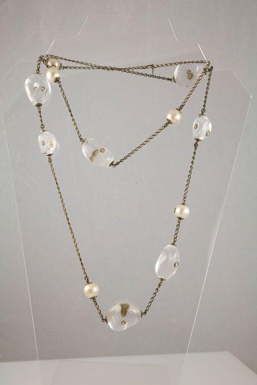 Chanel Rock Crystal and Pearl Sautoir 5