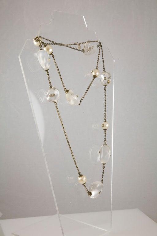 Chanel Rock Crystal and Pearl Sautoir 7