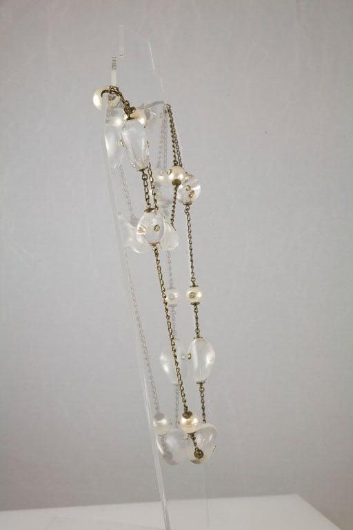 Chanel Rock Crystal and Pearl Sautoir 8