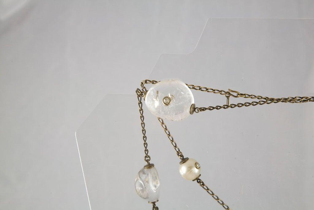 Chanel Rock Crystal and Pearl Sautoir 9