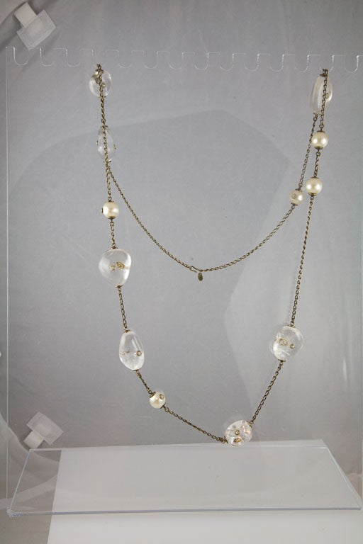 Chanel Rock Crystal and Pearl Sautoir 10