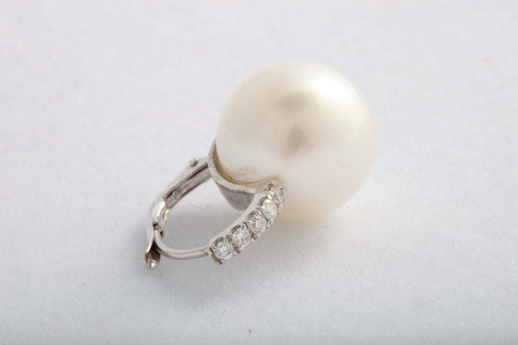South Sea pearl and diamond earrings 7