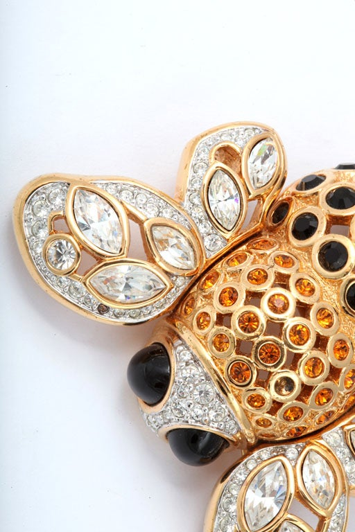 Large French Bumble Bee Brooch For Sale 3