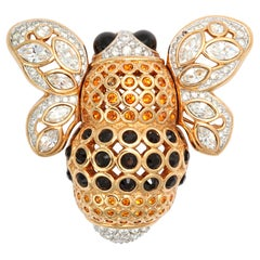 Large French Bumble Bee Brooch