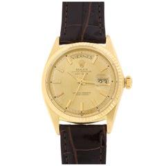 Rolex Yellow Gold Day-Date Wristwatch Ref 1803