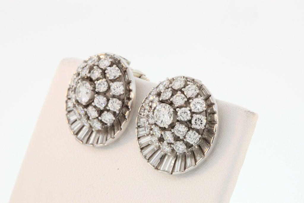 Women's Diamond Satellite Earclips For Sale