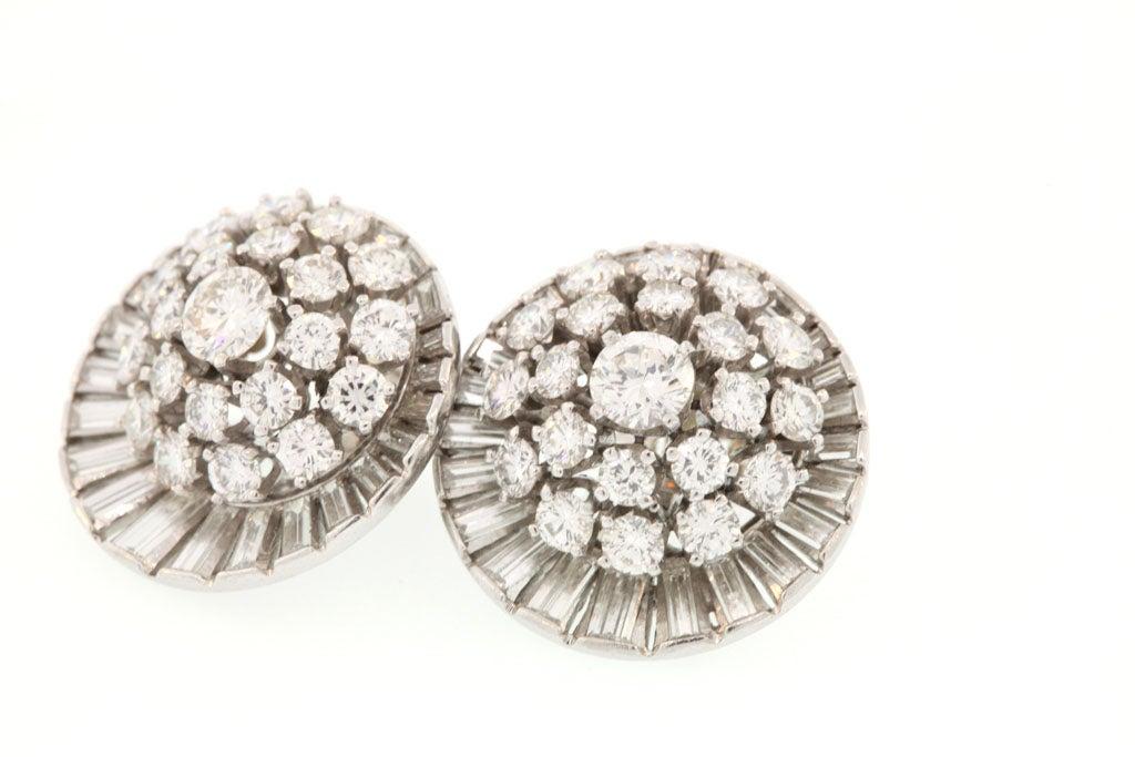 Diamond Satellite Earclips For Sale 1