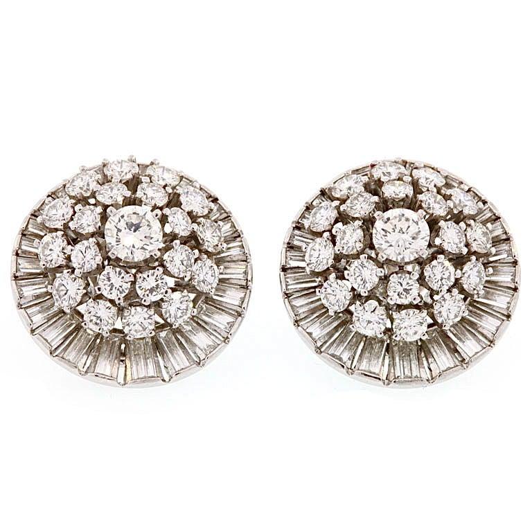Diamond Satellite Earclips For Sale