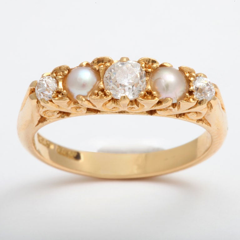 Radiant Diamond and Natural Pearl Band 2