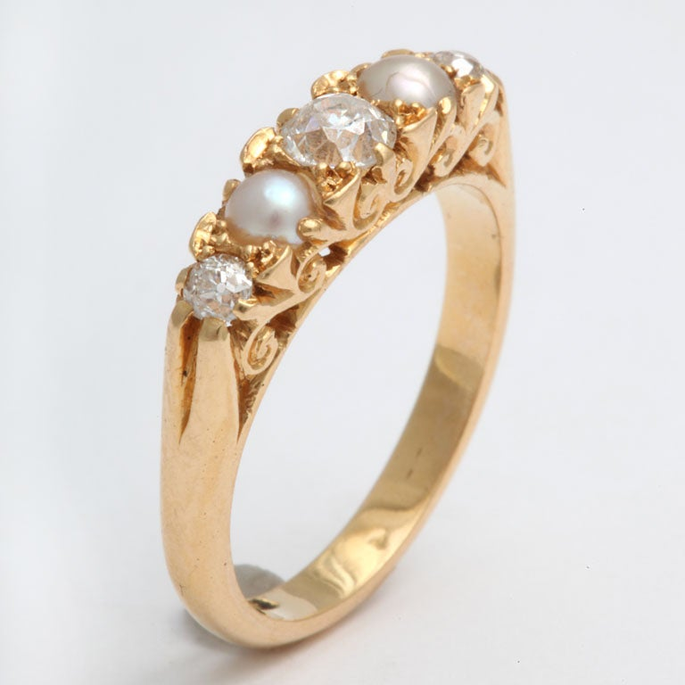 Radiant Diamond and Natural Pearl Band 3