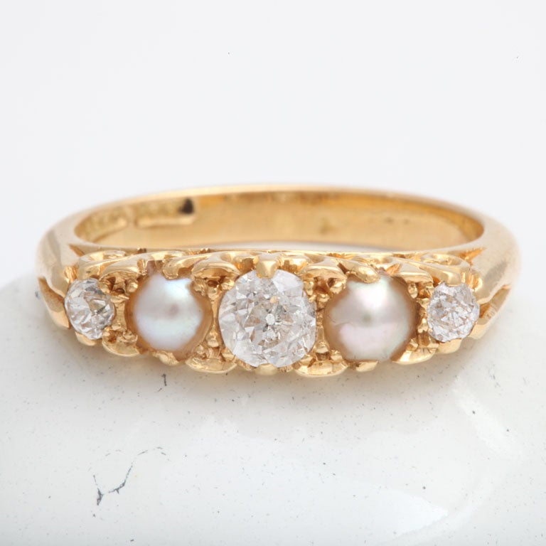 Radiant Diamond and Natural Pearl Band 4