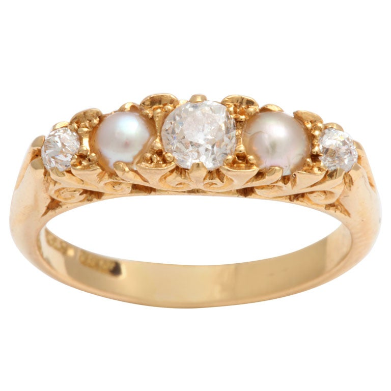 Radiant Diamond and Natural Pearl Band 1