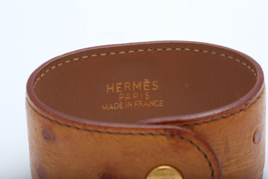 HERMES OSTRICH MEDOR BANGLE 1
