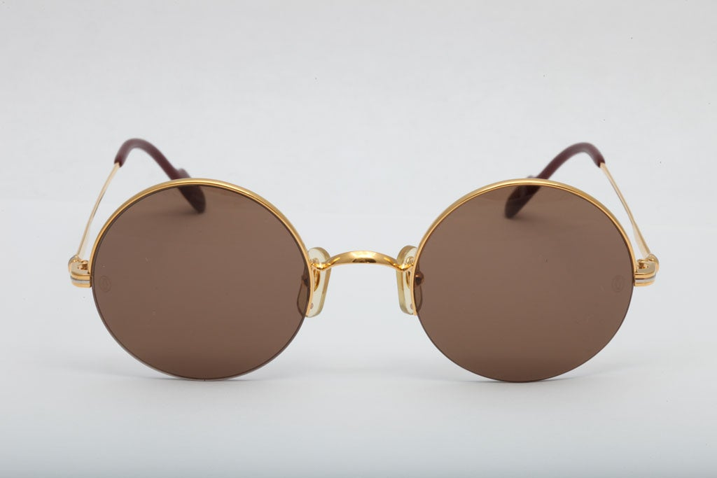 Half Rim Sunglasses  cartier half rim round sunglasses for at 1stdibs