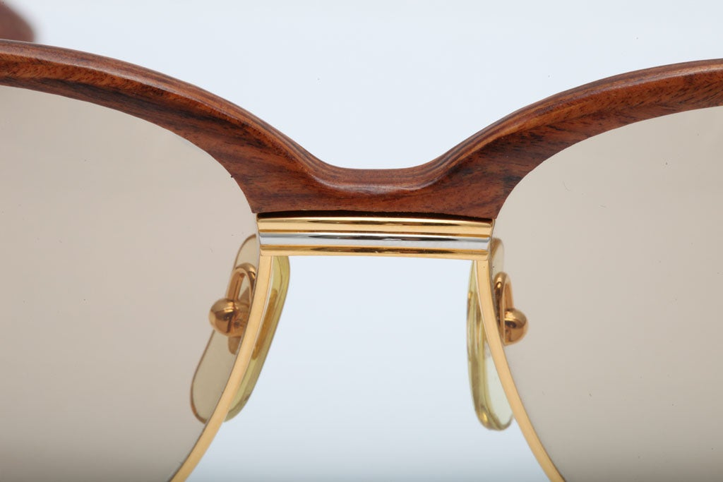 Cartier Malmaison Palisander Rosewood Vintage sunglasses For Sale 1