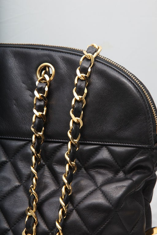 CHANEL LARGE QUILTED BOWLING BAG 4