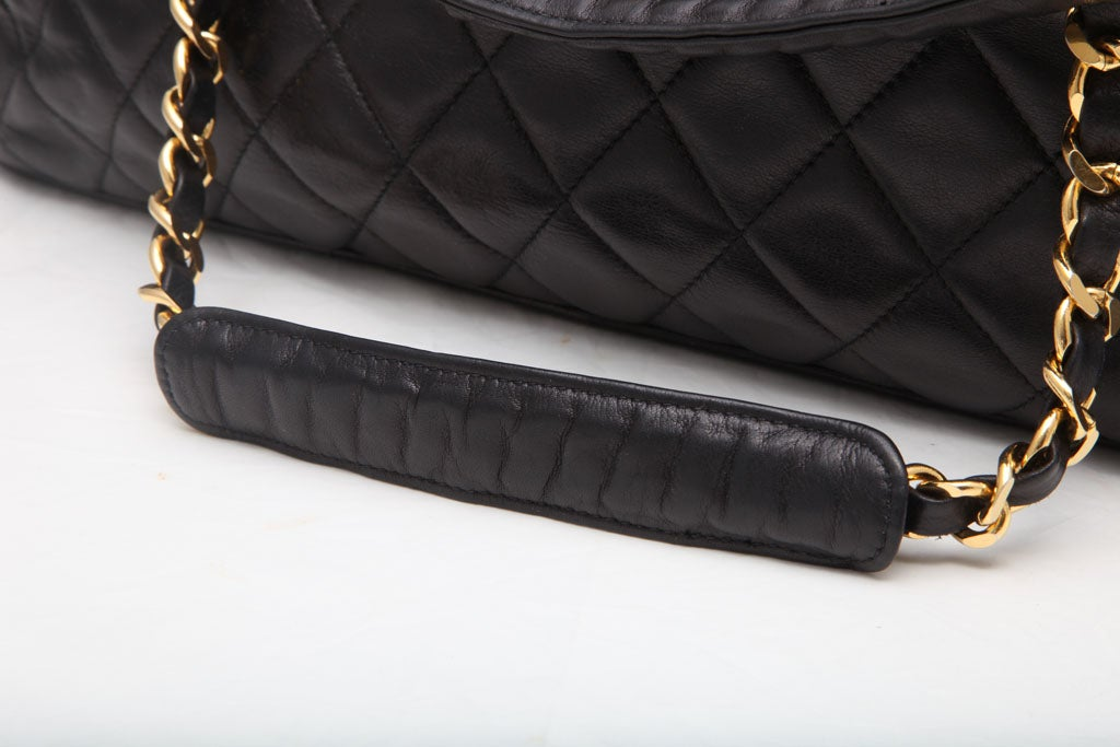 CHANEL LARGE QUILTED BOWLING BAG 6