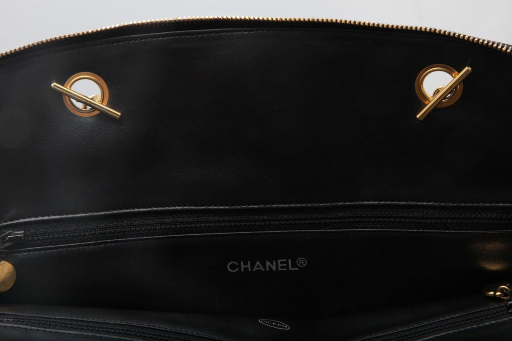 CHANEL LARGE QUILTED BOWLING BAG 7