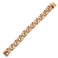 Heavy Gold Link Bracelet