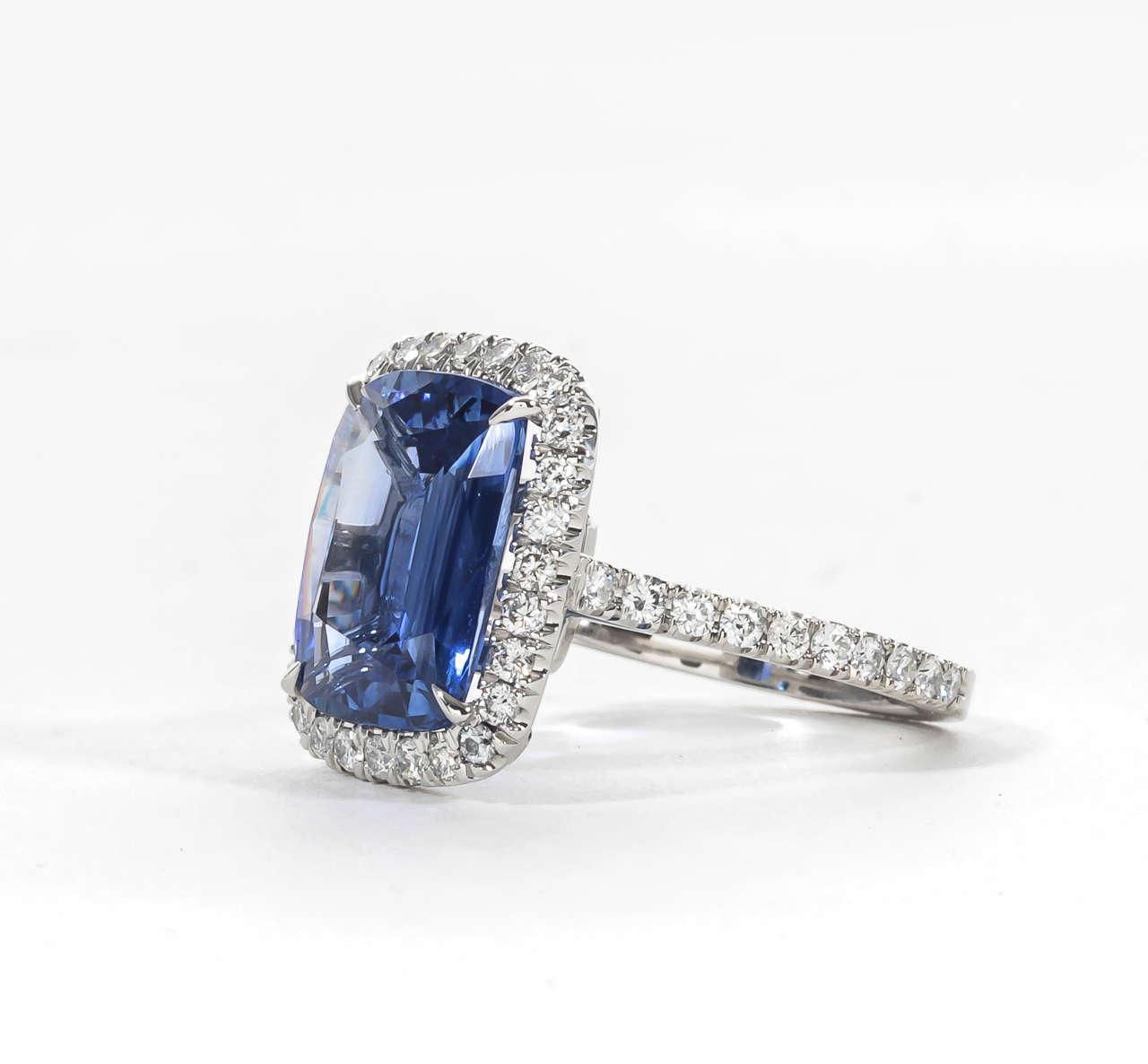 fabulous sapphire platinum ring at 1stdibs