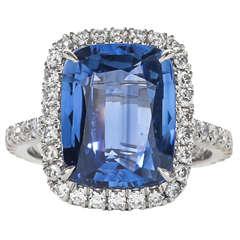 Fabulous Sapphire Diamond Platinum Ring
