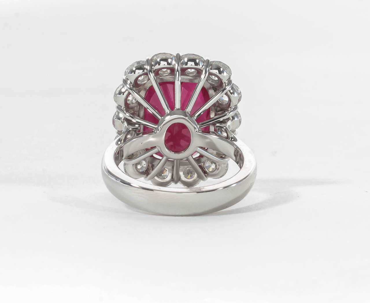 Rare Ten Carat Burma Ruby Diamond Ring image 4