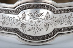 Unusual Victorian Sterling Silver Etched Bangle Bracelet thumbnail 7