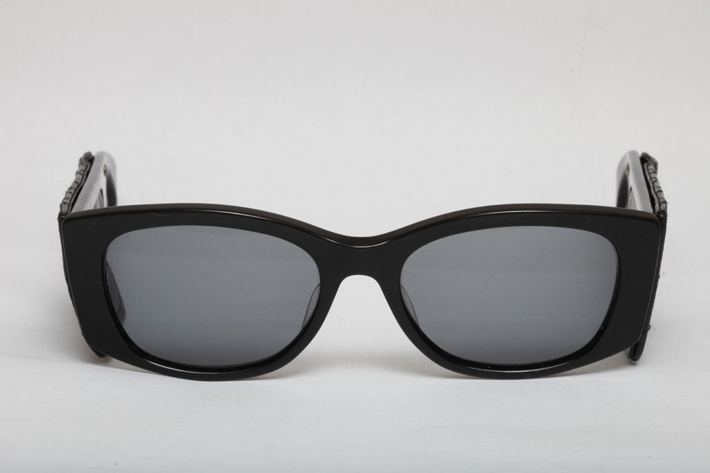 Vintage Chanel Quilted Leather Sunglasses 7