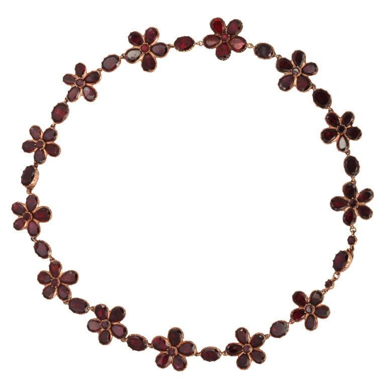 15 Karat Georgian Garnet Bracelets or Necklace, circa 1820