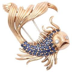 Magnificent Retro Goldfish Clip