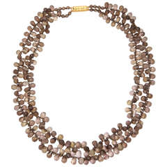Smoky Topaz Briolette Necklace