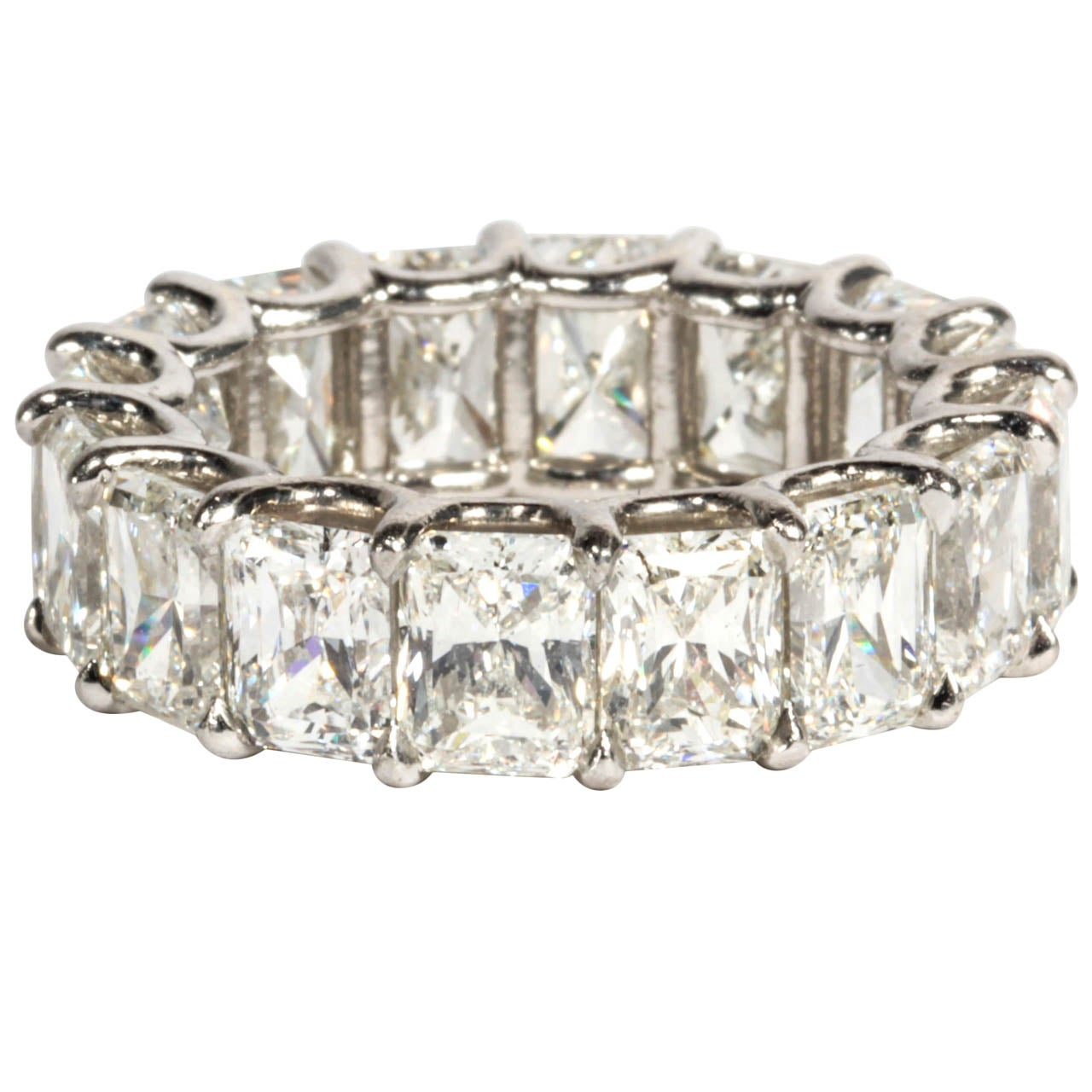 Gorgeous Radiant Cut Diamond Eternity Band