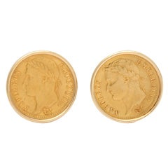 French Gold Coin Cufflinks