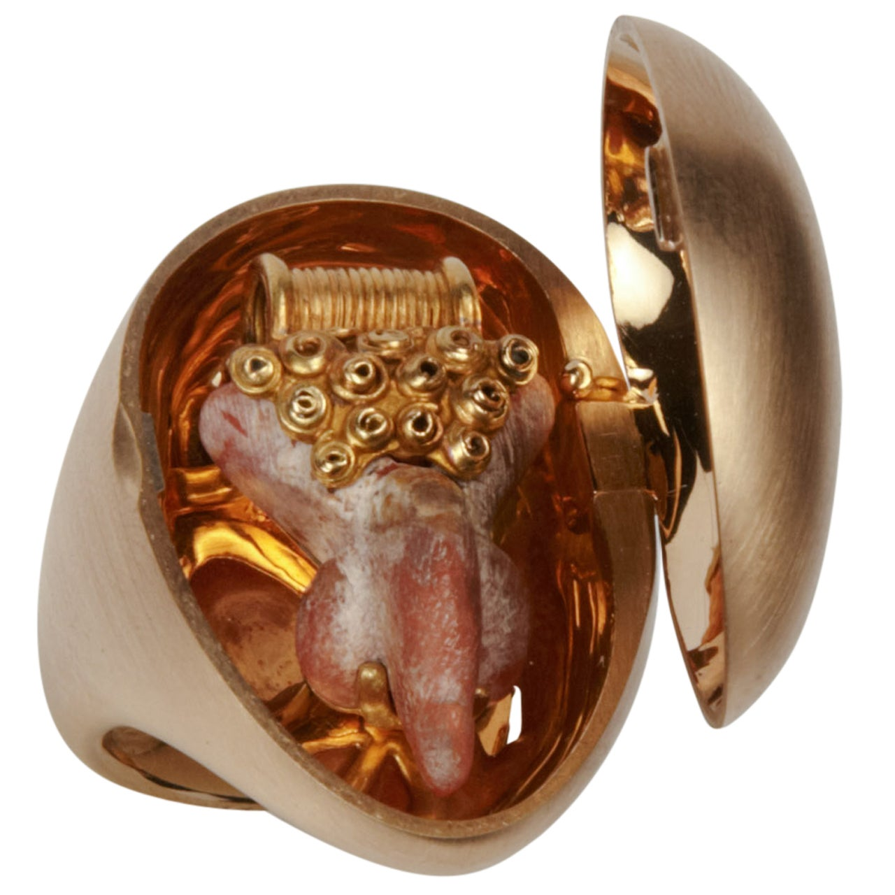 Roman Coral Phallus Ring At 1stdibs