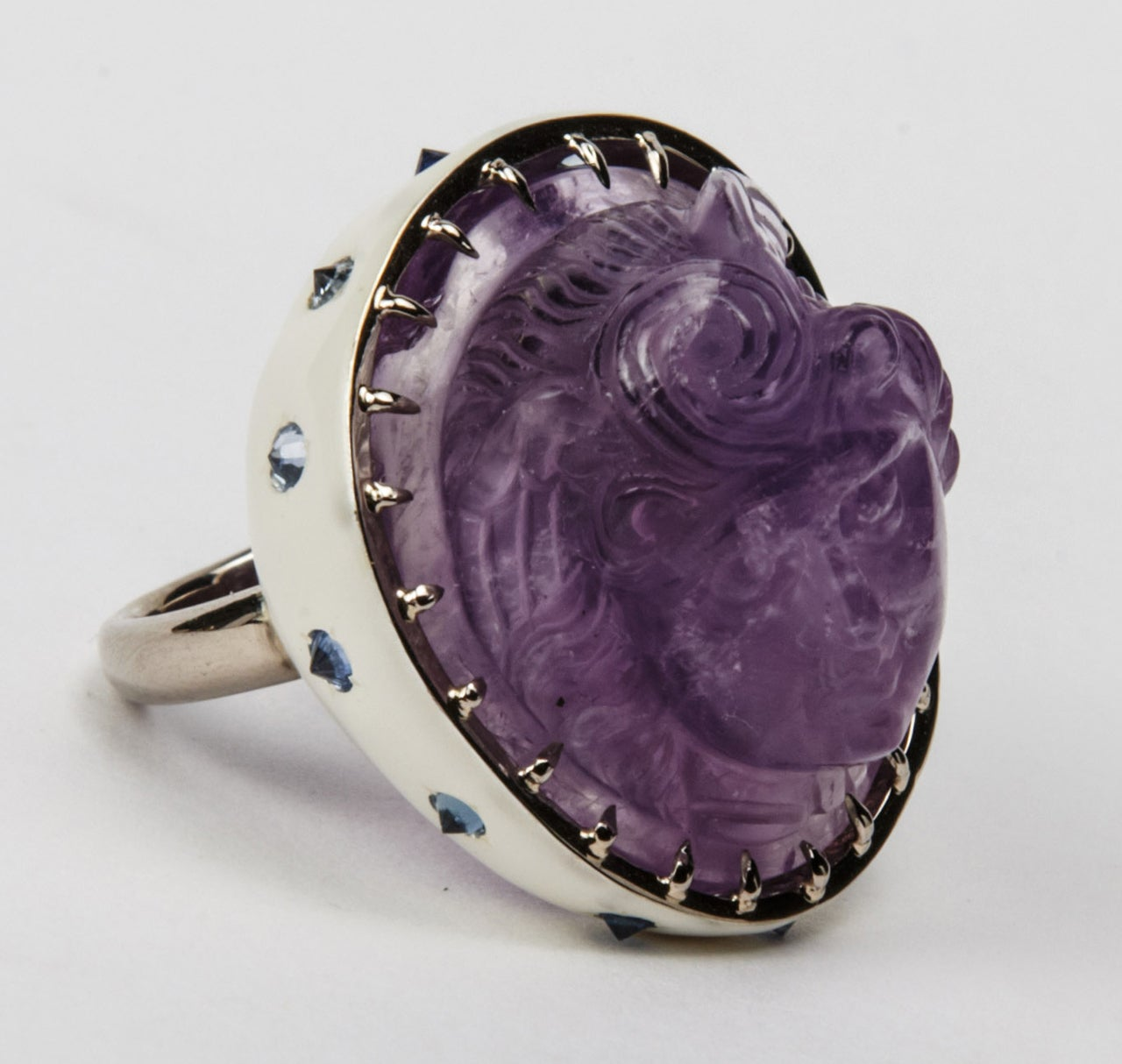 antique amethyst cameo ring at 1stdibs