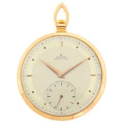 Rolex Rose Gold Open Face Pocket Watch