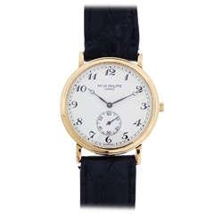 Patek Philippe Yellow Gold Calatrava Wristwatch Ref 5022J