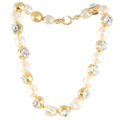 Chanel Glass Pearl and Rhinestone Choker