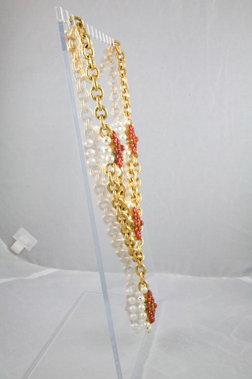 Chanel Stunning Poured  Glass and Pearl Runway Necklace 5