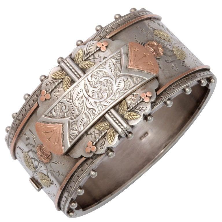 Superb Victorian Silver Cuff Bracelet At 1stdibs