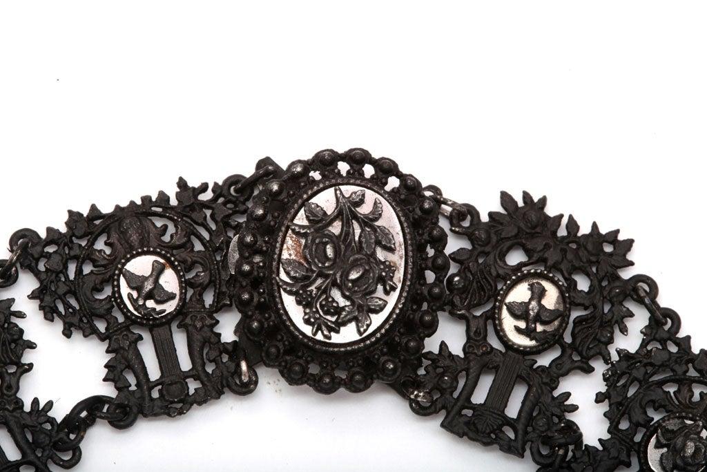 Antique Georgian Berlin Iron Musical Motif Necklace For Sale 2