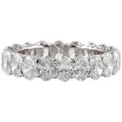 Oval Diamond White Gold Eternity Band