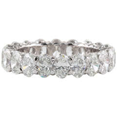 Oval Diamond White Gold Eternity Band