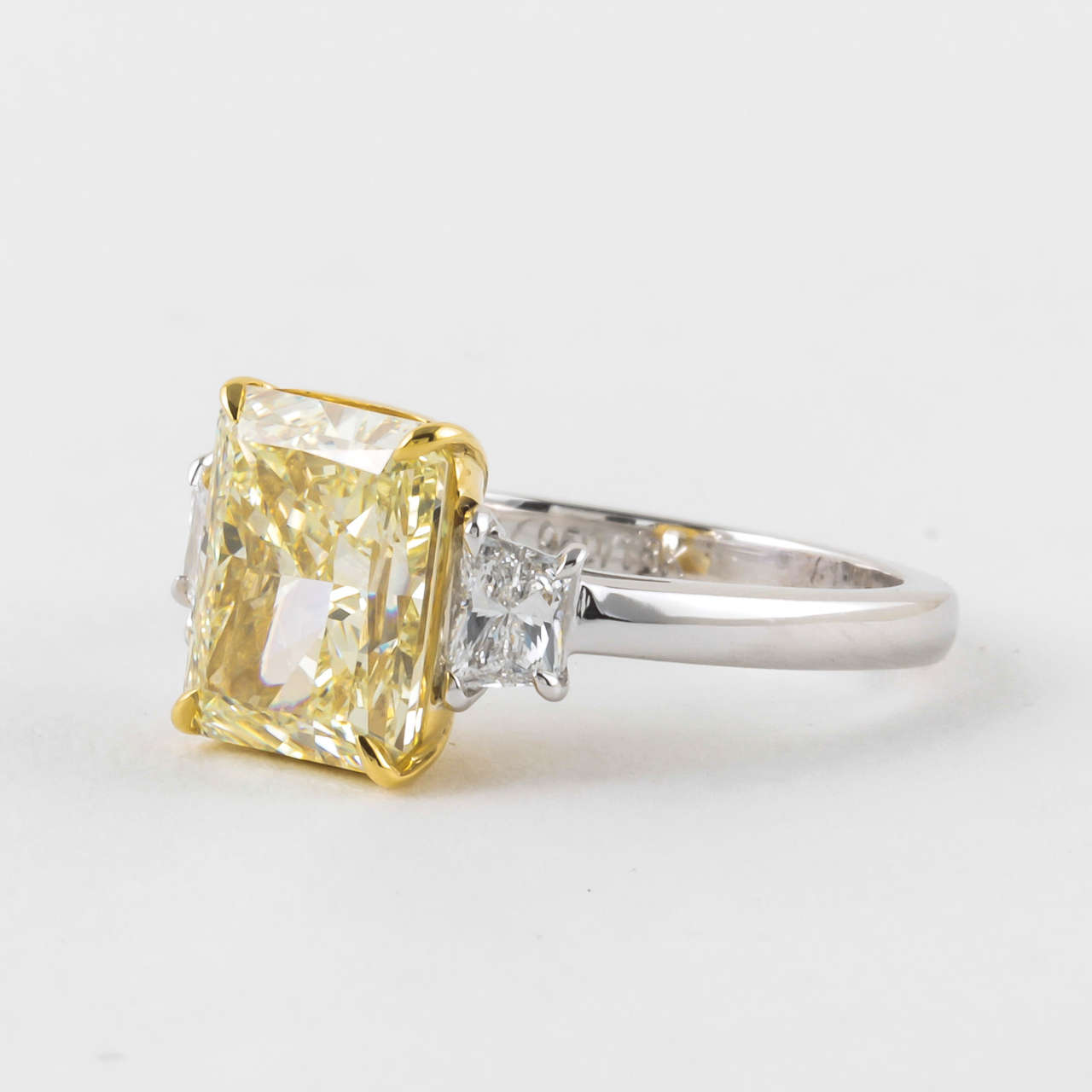 4 carat GIA certified Fancy Light Yellow VVS1 Diamond Ring image 5