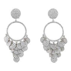 Pave Diamond Chandelier Earrings