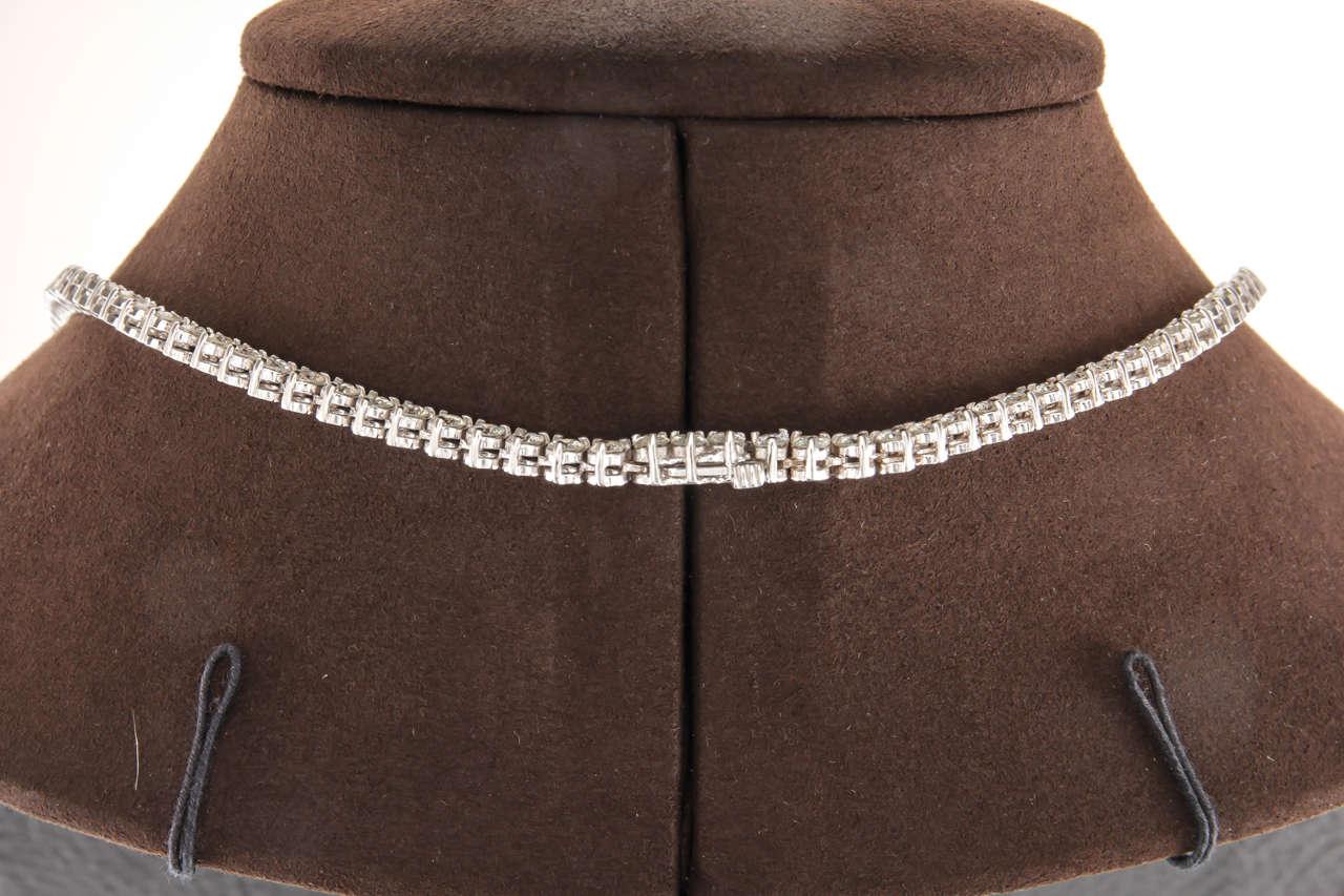 Women's 32 Inch Diamond Gold Opera Tennis Necklace