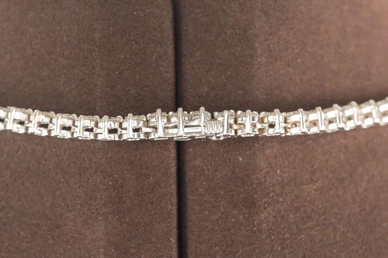 32 Inch Diamond Gold Opera Tennis Necklace 1
