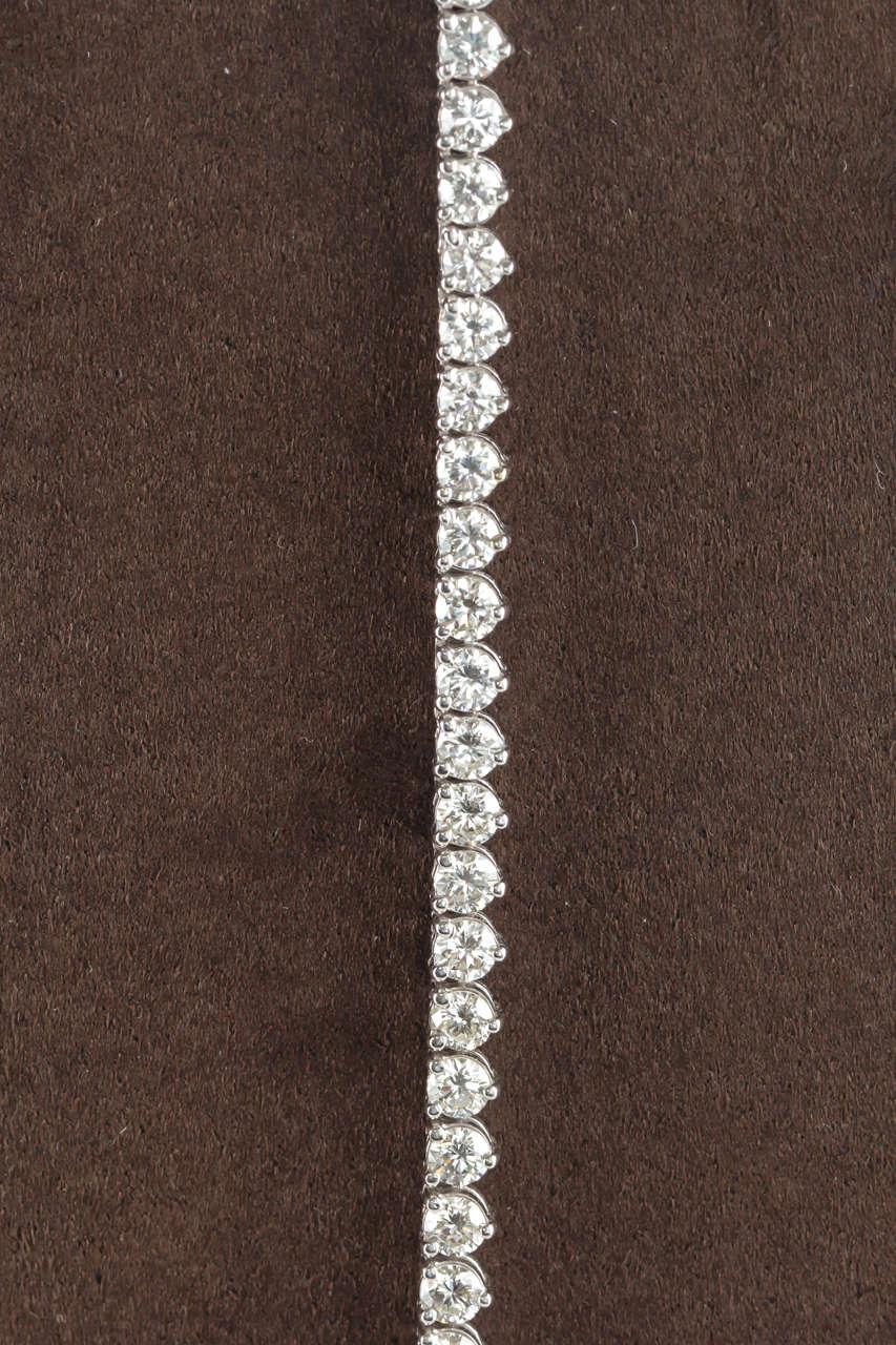 32 Inch Diamond Gold Opera Tennis Necklace 2
