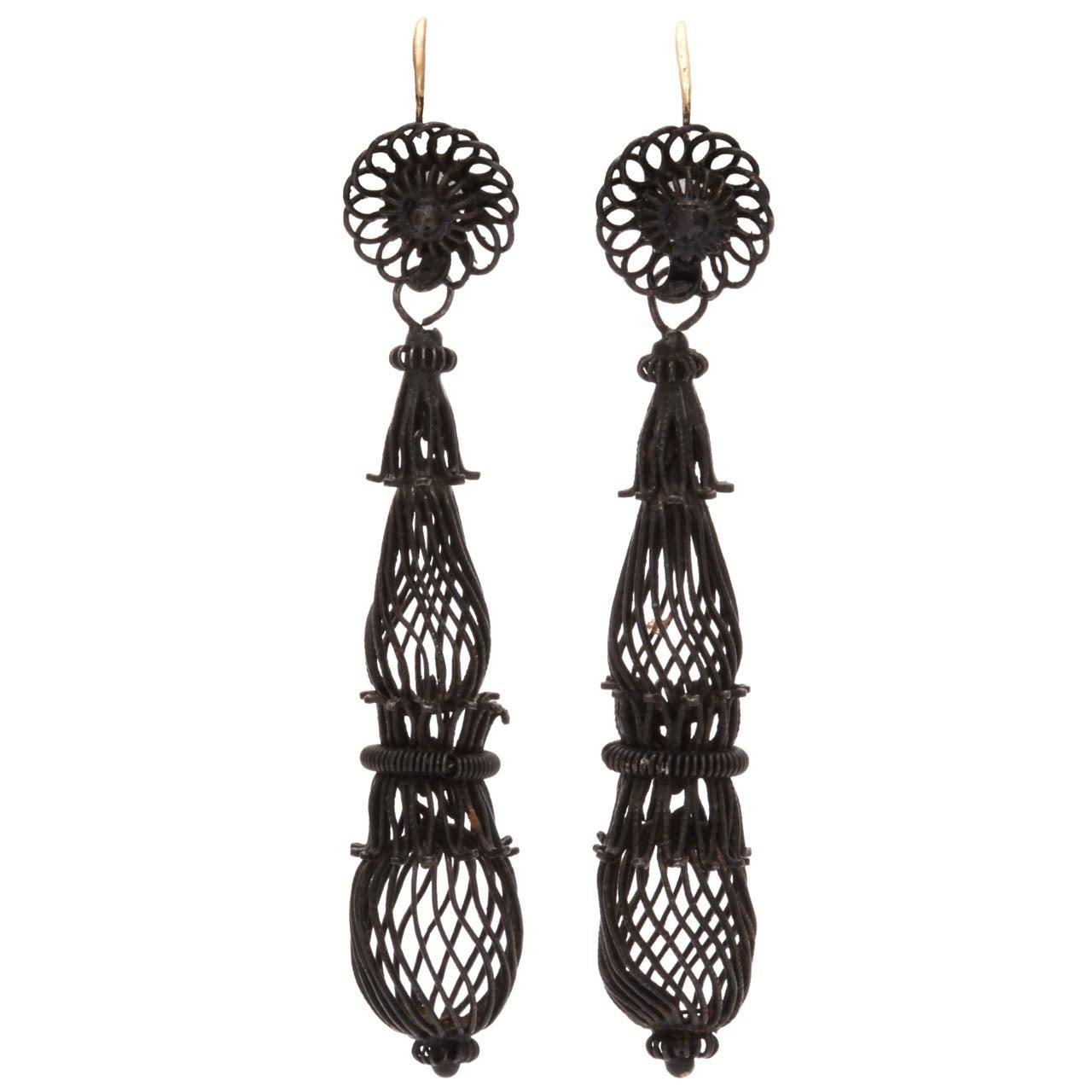 Dreamweaver Berlin Iron earrings c.1820
