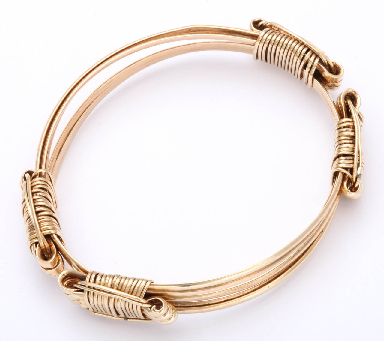 expandable gold elephant s hair bracelet at 1stdibs